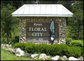 Floral City Florida, sign